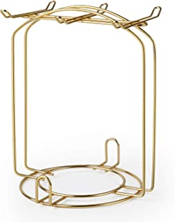 Amazingware Stainless Steel Wire Rack Display Stand Service for Tea Cups, Bracket