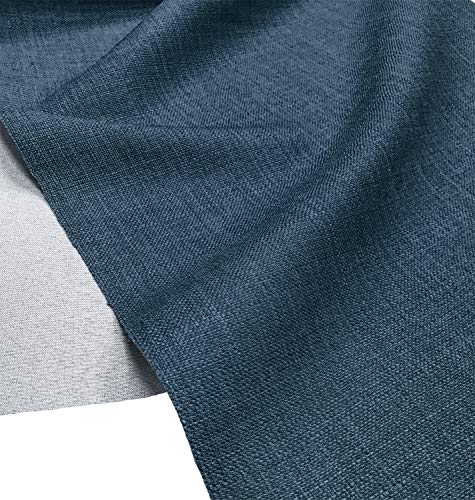 A-Express Morbida Tessuto Effetto Lino Tenda Borse Progettista Stoffa Materiale di Sartoria 145cm Larghezza - Mezzo Metro 50cm x 145cm Blu Denim