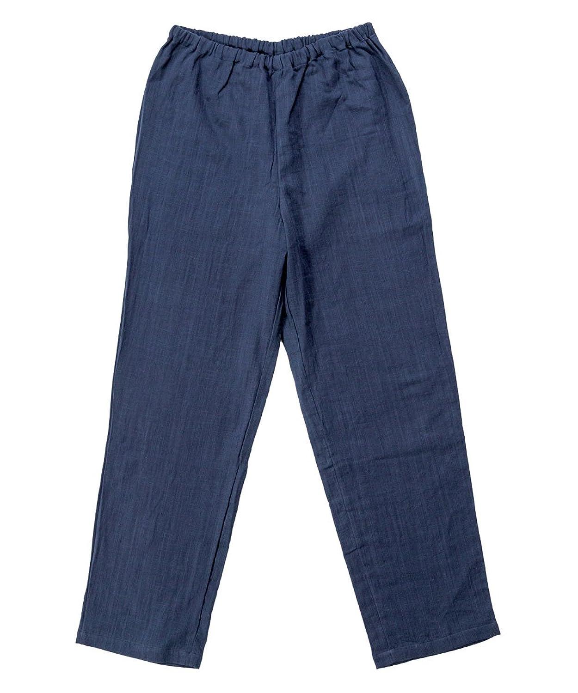 [パジャマ工房] パンツのみご要望の方に。入院用の替えパンツ、スリーパーのパンツスタイルにも。パンツ単品でお買い求め頂けます。【ダブルガーゼ】 [zp0306]
