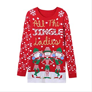 AHJSN Jumper Snowman Deer Sweaters New Santa Claus Xmas Patterned Ugly Christmas Sweaters Tops 4XL Christmas 05