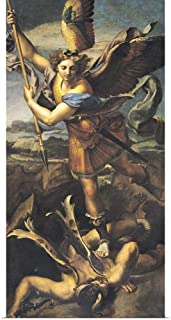GREATBIGCANVAS Poster Print St. Michael Overwhelming The Demon, 1518 by Raffaello S. Raphael 12