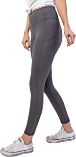 Another Day Women's High Waisted Active Casual Wear Full Length Ankle Reflector Yoga Leggings with Side Pockets (S-3X)