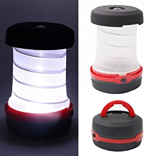 3WAY高輝度LEDランタン キャンプライト懐中電灯 折り畳み式 軽量 アウトドア 夜釣り 防災対策 ポータブルコンパクト スマートハンドル付 電池式(別売)