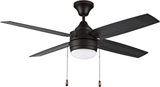 """Litex Industries AK52EB4L Litex Aikman Contemporary 52""""Ceiling Fan Bronze Finish with 4 ABS Blades, Remote Control, UL Rated for Damp Locations, 70 inch x 72 inch"""