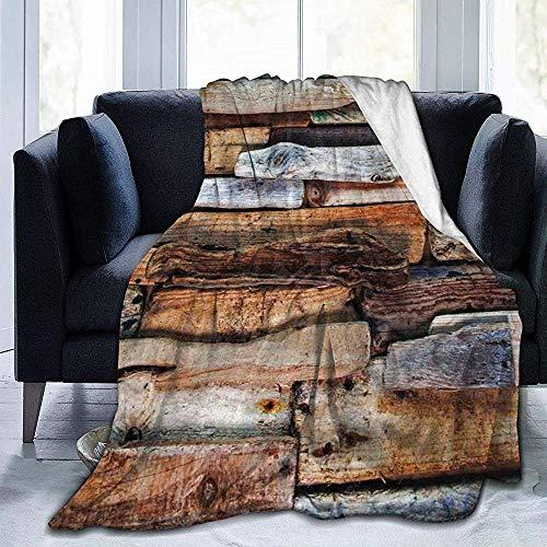 DSSYEAH Super warme Decke Wooden Theme Driftwood und knorrigen Planken im Vintage-Stil Design Digital Image Ultra-Soft Micro Fleece Weiche und warme Decke, perfekt fürs Bett, Sofa 60 * 80 inches