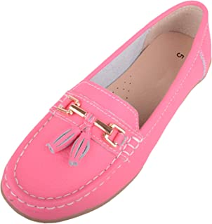 Absolute Footwear Womens Slip On Casual Leather Loafer/Deck/Boat Shoes/Sandals