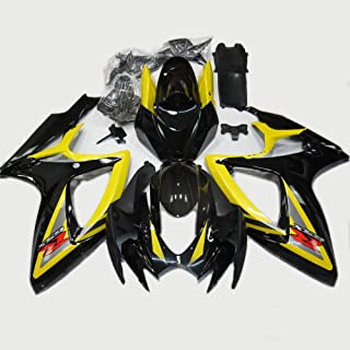 ABS Injection Molding - Black & Yellow Painted With Graphic Fairing Kit for SUZUKI GSXR 600/750 K6 (2006-2007)