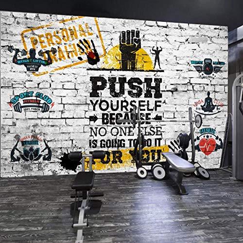 Personalidad Wallpaper_Personality Gym S Club Sports S Taekwondo Yoga Museum Muscle Men Retro Papel tapiz no tejido Papel tapiz 3D Decoración-350cm×256cm