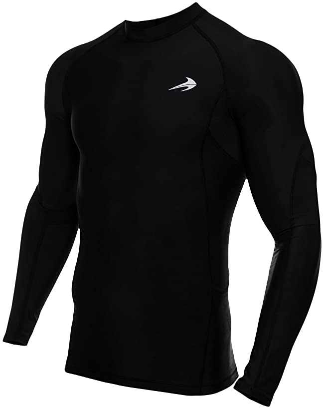 CompressionZ Men's Long Sleeve Compression Shirt - Performance Base Layer for Fitness, Basketball, Gym, Sport Wear - Cool Dry Running Shirt for Muscle Recovery - Winter Thermal Underwear for Men