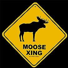 Green Aluminum Weatherproof Road Street Signs Moose Hunter Home Decor Wall