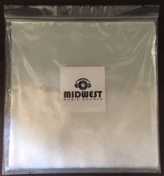 50 12 透明塑料外乙烯基唱片套高级 3mil 厚