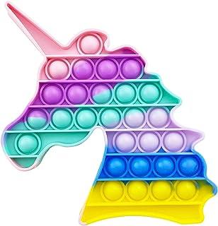 AURSTORE Jouets Anti-Stress - Fidget Toy - Push It - Pop Bubble - Jouets Sensoriels à Presser en Silicone pour la Concentr...