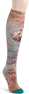 Mare and Foal Horses Flourish Women's One Size Stretch Cotton Knee High Socks