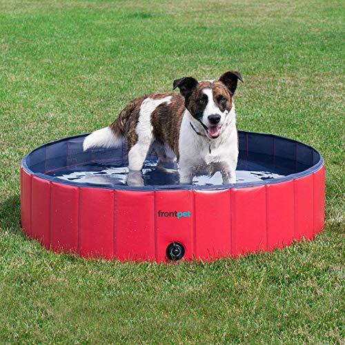 FrontPet Foldable Extra Large Dog Pet Bath Pool, Pet Swimming Pool, Outdoor Bathing Tub for Dogs, wash tub Water Pond Pool for Dogs (Small - Extra Large)