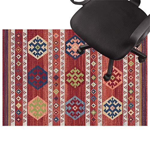 Teppich rutschmatte Teppich für bürostuhl, Low Pile Carpet, rutschfeste Stuhlmatte, Silent Bodenschutzmatte Für Holzböden, Keramikfliesen, Laminat(Size:120×160cm/47×93in,Color:EIN)