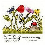 Bothy Threads - Kit per punto croce, motivo: You Make Me Happy