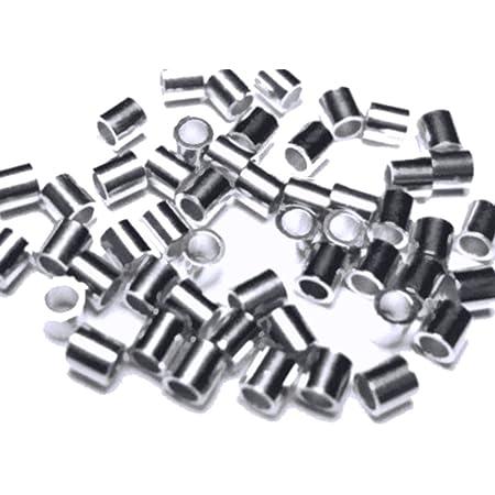 2391 Silver crimp beads 2 mm Rhodium jewelry crimps Bead crimps Crimp tubes Round crimp beads Crimping bead Jewelry crimp beads 100 pcs