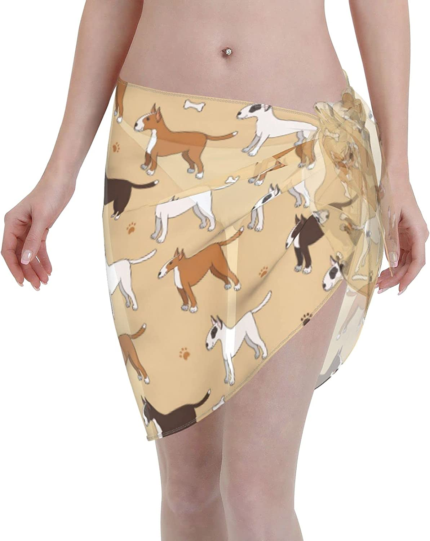 Reindeer Horn Women Short Funny Dog and Paw Sarongs Cover Ups Beach Chiffon Sarong Bikini Swimwear Black