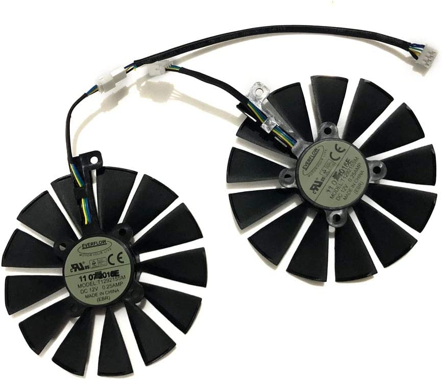 85mm Diameter 28mmX28mm Pitch Graphics Card Fans T129215SU Single C Fan Video Cooler for ASUS GTX1080TI//980Ti//1070//1080//1070Ti R9 390X//390 RX480//580 R9 Fury GPU Cards Cooling