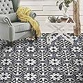 Moroccan Mosaic & Tile House CTP33-03 Casa Handmade Cement Tile, Gray/Black/White