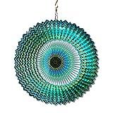 FONMY Wind Spinner Mandala Starry Sky 12 inch 3D Stainless Steel Laser Cut Metal Art Geometric Pattern - Hanging Wind Spinner, Kinetic Yard Art Decorations - Indoor/Outdoor Décor