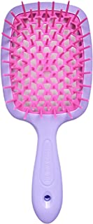 BananaHome Detangling Hair Brush, Massage Curl Comb for Natural Curly Wet Dry Thick Straight Long Hair (PURPLE+ROSE RED)