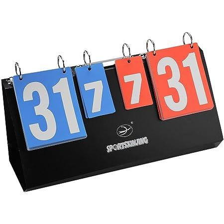 Lelesta Digit Portable Flip Sports Scoreboard Score Counter for Table Tennis Basketball