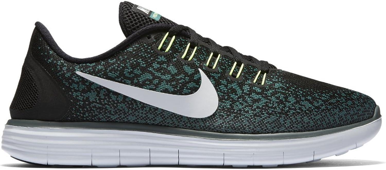 Nike Men's Free RN Distance BLACK PURE PLATINUM-JADE GLAZE-HASTA 12.5