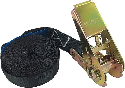 Lashing Strap 1.5M x 25mm Tie Down Straps Ratchet Buckle up to 800kg Gray 2pcs