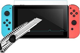 Nintendo Switch ニンテンドー 任天堂 スイッチ 専用 ガラスフィルム ブルーライトカット パープル 紫 2枚セット | 画面 保護 目に優しい お得 セット 9H 本体 カバー フィルム オシャレ ガラス 強化 液晶 貼りやすい hb1011