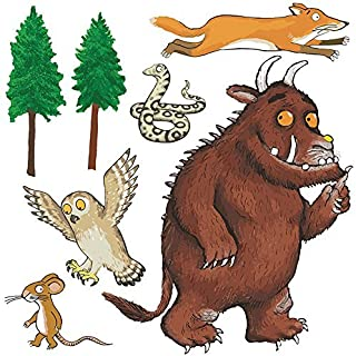 The Gruffalo Characters Group Self Adhesive Wall Sticker Set Decal (900mm)