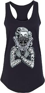 2 Gun Tattooed Marilyn Monroe Bandana Women's Racerback Blonde Bombshell