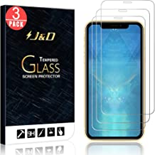 J&D Compatible for iPhone 11 Glass Screen Protector, 3-Pack [Tempered Glass] [Not Full Coverage] Ballistic Glass Screen Protector for iPhone 11 Screen Protector - [Not for iPhone 11 Pro/11 Pro Max]