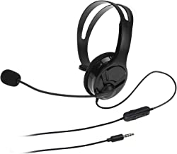 AmazonBasics Gaming Chat Headset for PlayStation 4 with Microphone – 4 Foot Cable, Black