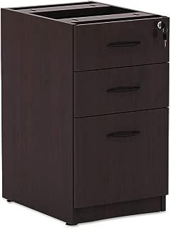 Alera VA532822MY Valencia Series 16 by 22 by 28-Inch 2 Box and 1 File Drawer Full Pedestal, Mahogany