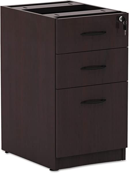 Alera VA532822MY Valencia Series 16 By 22 By 28 Inch 2 Box And 1 File Drawer Full Pedestal Mahogany