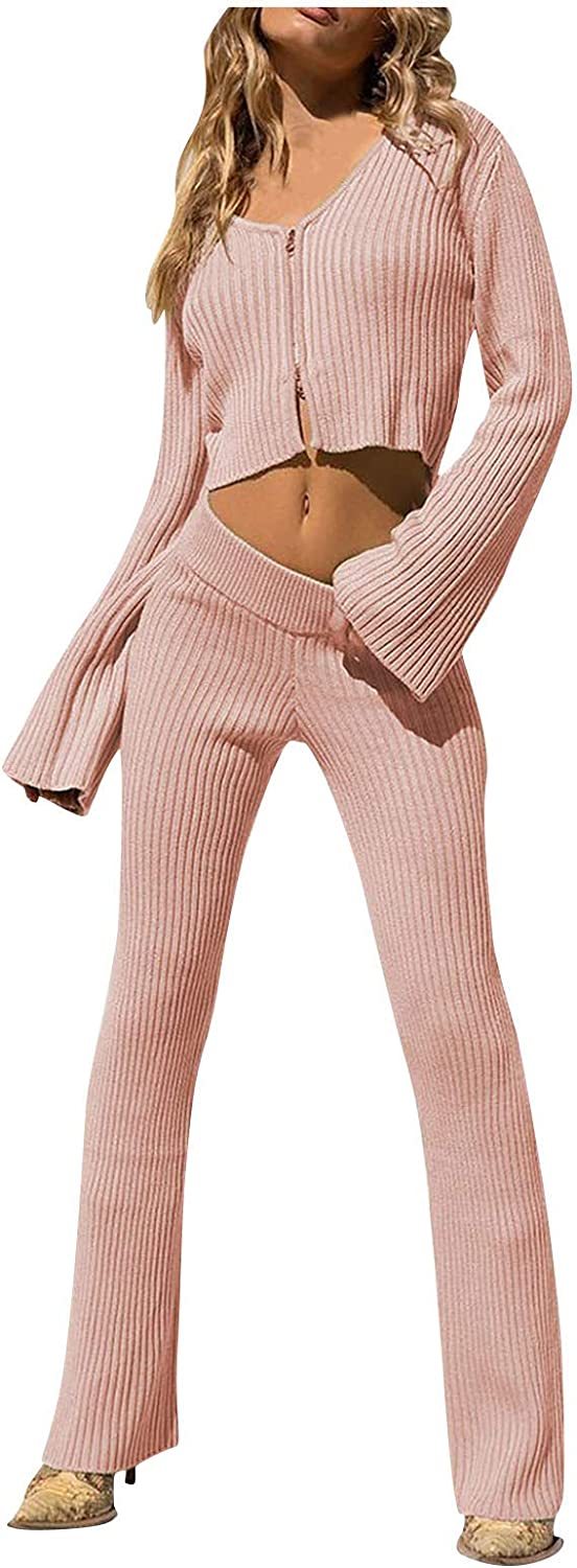 Womens Pajama Sets Plus Size Two Piece Outfit Pullover Tops and Pants Solid Sweatsuits Jogger Loungewear Pjs Sets