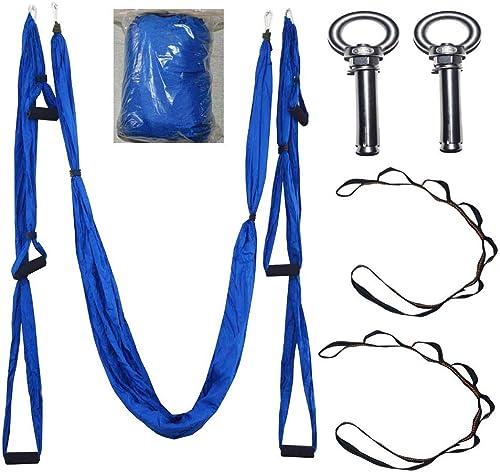 UICICI Hamac aérien Yoga Anti-gravité hamac de Yoga hamac en Toile de Parachute avec 6 poignées de Guidon sans Bout Droit