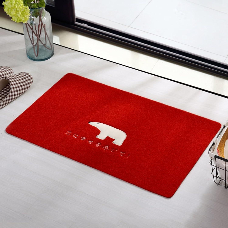 Carpet Doormat Door mats Entrance Hall The Door Bathroom Kitchen Water-Absorbing mats Non-Slip mat-K 100x100cm(39x39inch)