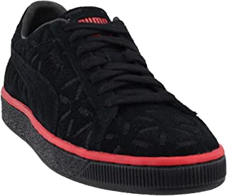 Mens Suede Classic Lux Casual Shoes, Black, 10.5