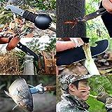 Multifunktional Spork Titan 2 Stück Multifunktionslöffel Edelstahl Löffel Gabel Flaschenöffner Multi-Tool Überlebenswerkzeug ZSSZ-01 (Schwarz) - 6