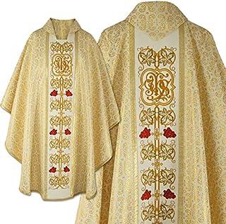 Casula in stile gotico con stola abbinata - d'oro