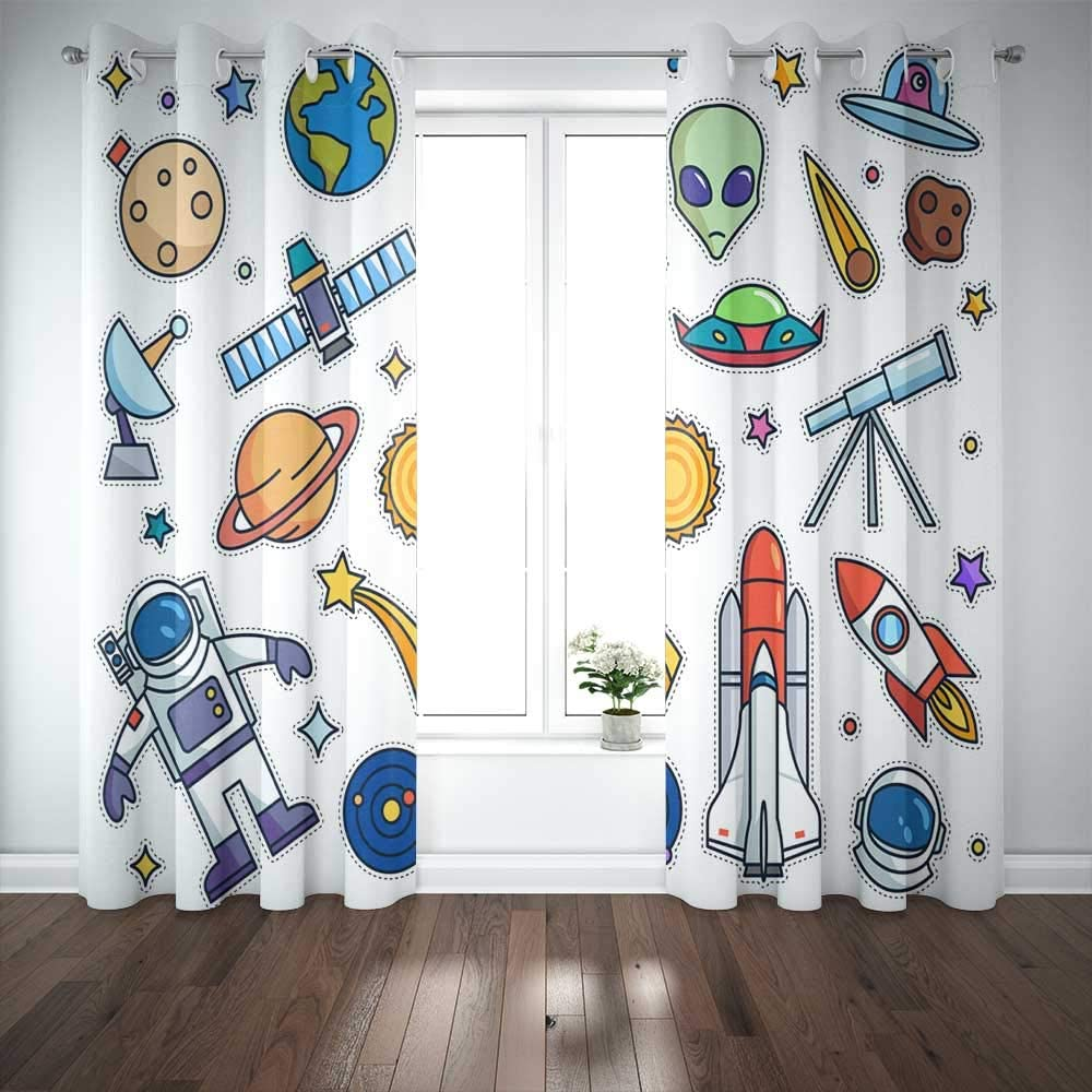 Capsceoll 52X 84 Gifts Inch 2 Panels shipfree Vintage Space Carto Fashion Theme