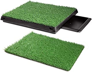 Ezonedeal Dog Toilet Indoor Puppy Training Pad, Dog Potty Pet Training Grass Mat, Removable Waste Tray for Easier Clean Up...
