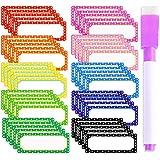 50 Pcs Etiquetas Magnéticas de Borrado en Seco Etiquetas Magnéticas Flexibles Etiquetas de Pizarra Blanca Lámina Magnética Flexible Etiquetas Magnéticas para Pizarras Blancas, Neveras, Tableros Mag