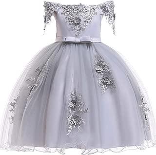 3-12 Years Formal Girls Dresses Flower Pageant Dresses for Girls Summer Sundress