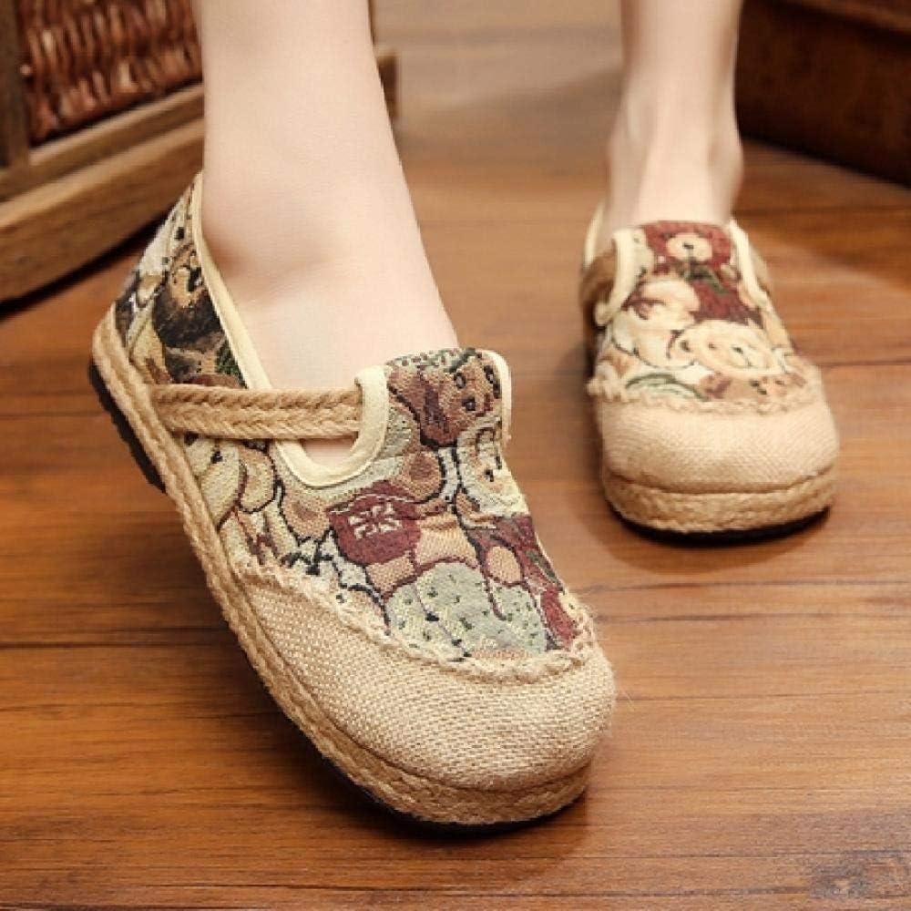 RHH Shop Limited price sale Weowalk Spring Autumn Women Ranking TOP16 Loafers Cotton Bear E Linen