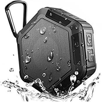 KEROLFFU (Upgrade) Outdoor Waterproof Bluetooth Speaker, 15Hour Mini Shower Travel Speaker, Enhanced Bass,Wireless Portable Built-in Mic for Sports Pool Beach Hiking Camping (Suction-Cup)