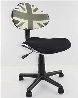 Decohouse Silla Oficina Escritorio Ordenador giratoria Calidad cómoda Altura Regulable ergonómica Asiento Negro Elegante