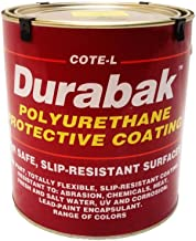 Durabak Original (For Indoors), TEXTURED version - Non Slip Coating, Bedliner, Deck Paint for ALL Boats - Many colors to choose from! - BLACK - GALLON